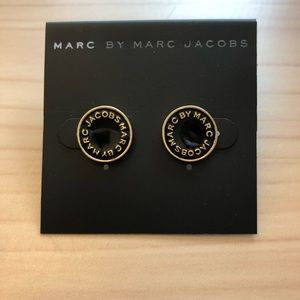 Marc by Marc Jacobs Black and Gold Disc Earrings
